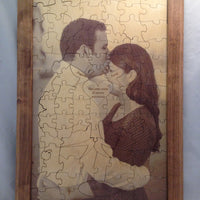 Custom Photo Together Forever Tree Puzzle
