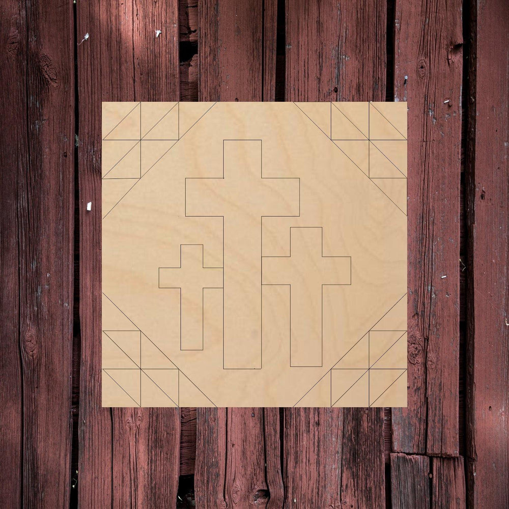 3 Crosses - Barn Quilt - Personal Handcrafted Displays