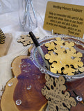 Natural Snowflake Guest Book