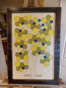 Bubble Tree Wedding Guest Book