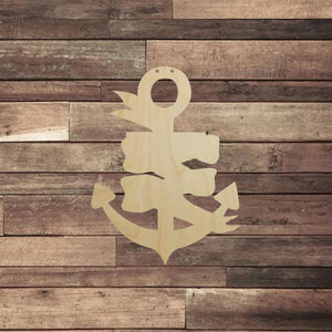 Anchor with Banner - Personal Handcrafted Displays