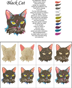 Black Cat-DIY Pop Art Paint Kit - Personal Handcrafted Displays