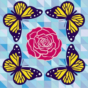 Butterfly Kisses - Barn Quilt