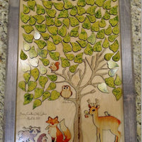 Woodland Animal Baby Shower Guest Book/Nursery Decor Wooden Puzzle