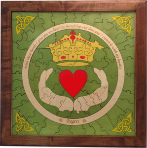 Custom Claddagh Wedding Guest Book Alternative Puzzle