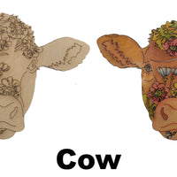 Cow Adult Coloring