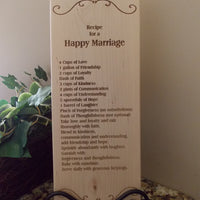 Happy Marriage Recipe Bread Board