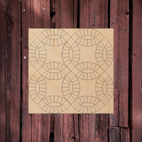 Double Wedding Ring (4 rings)- Barn Quilt