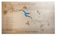 Firehole River and the Madison River - Laser Cut Wood Map