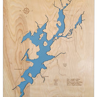 Lake Hopatcong, NJ - Laser Cut Wood Map