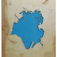 Lake Moultrie, South Carolina - Laser Cut Wood Map