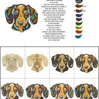 Dachshund Short Haired-DIY Pop Art Paint Kit