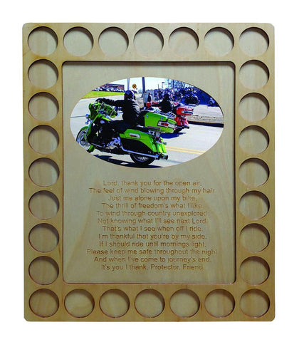 Biker's Prayer Plaque and Poker Chip Holder