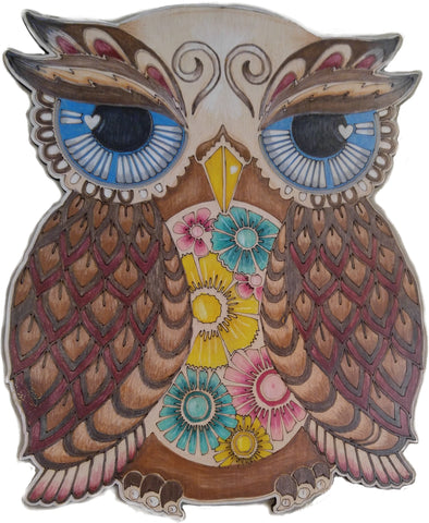 DIY - Adult Coloring - Wood Owl