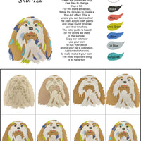 Shih Tzu (Long Haired)-DIY Pop Art Paint Kit