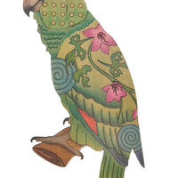 Adult Coloring - Wood Parrot