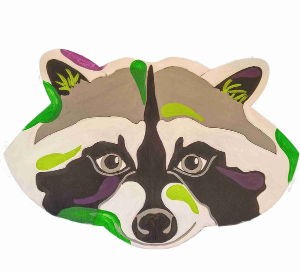 Raccoon Pop Art