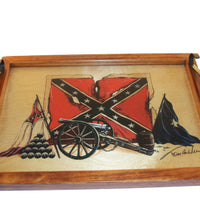Serving Tray with Handles and Image