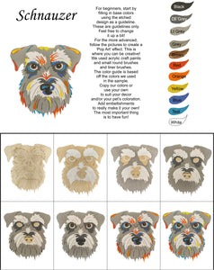 Schnauzer Standard-DIY Pop Art Paint Kit