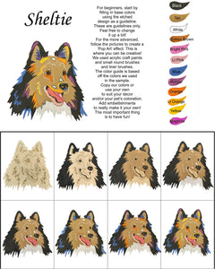 Sheltie-Shetland Sheepdog-DIY Pop Art Paint Kit