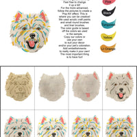 Westie-DIY Pop Art Paint Kit