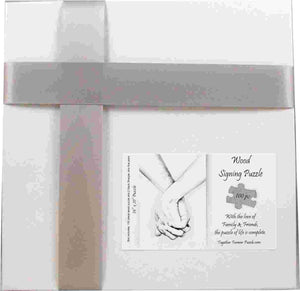 Hand in Hand Wedding Guest Book Box Puzzle