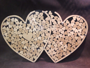 Double Heart Drop Wedding Guest Book