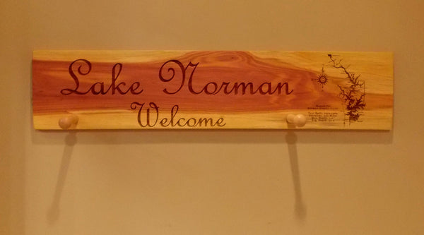 Cedar Plank Sign Lake Map