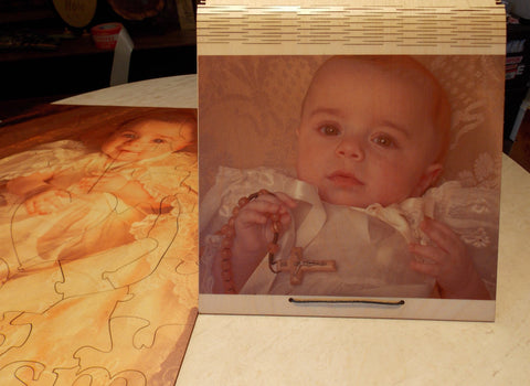 Custom Baptism Puzzle Picture Box Guest Book