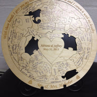 Custom Claddagh Wedding Guest Book Puzzle