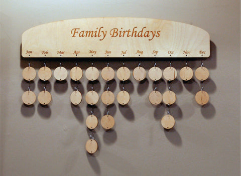 Family Birthday Wall Plaque