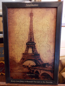 Eiffel Tower Forever Tree Wood Puzzle