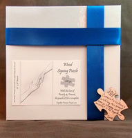 Man Hands Wedding Guest Book Box Puzzle