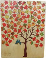 Custom Maple Tree Guest Book Alternative Wood Signing Puzzle