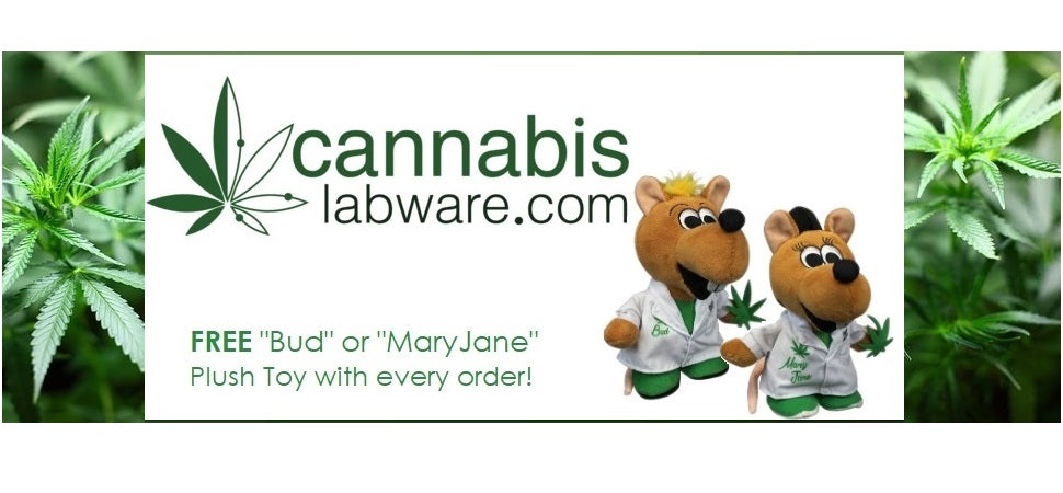 Free Botanical Lab Rat with every Cannabis Labware Order!
