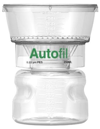 250ml Autofil® .2μm High Flow PES Bottle Top Filter Full