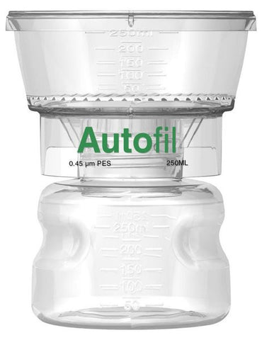 250ml Autofil® .45μm High Flow PES Bottle Top Filter Full