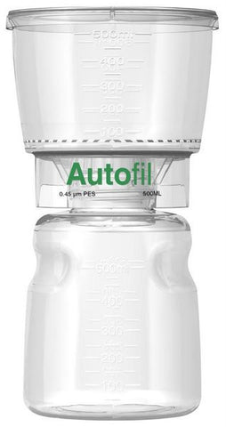 500ml Autofil® .45μm High Flow PES Bottle Top Filter Full