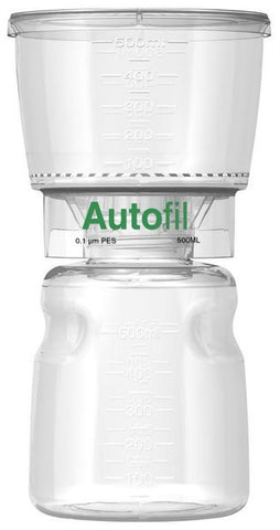500ml Autofil® .1μm High Flow PES Bottle Top Filter Full