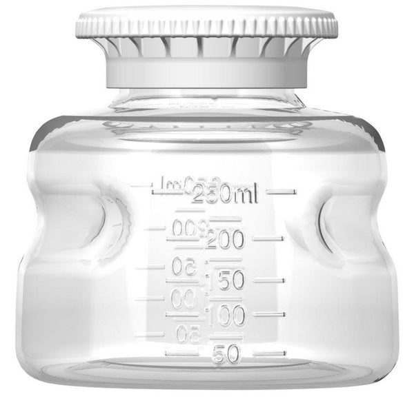 Foxx Life Sciences 250ml PS Media Bottle with SECUREgrip cap, Sterile