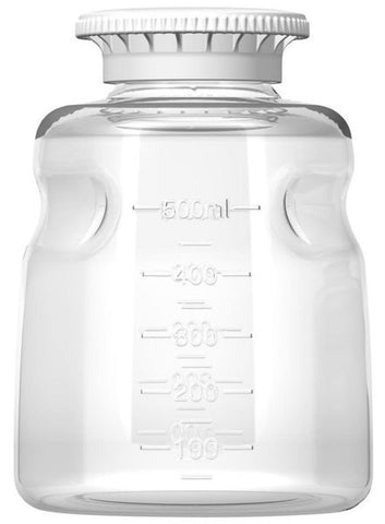 Foxx Life Sciences 500ml PS Media Bottle with SECUREgrip cap, Sterile