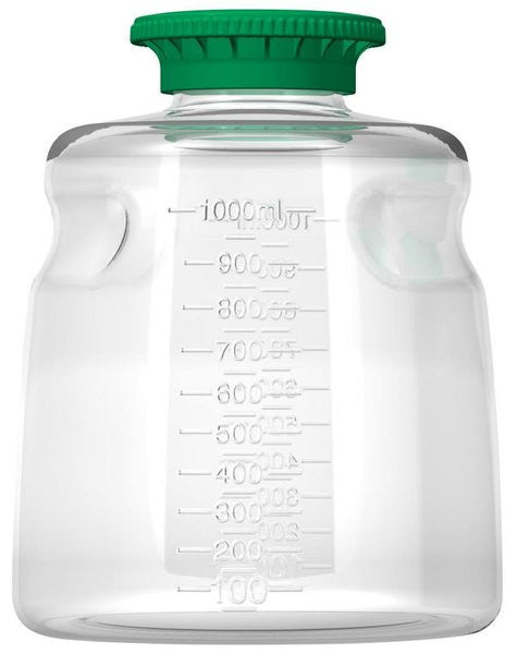Foxx Life Sciences 1000ml PETG Media Bottle with SECUREgrip cap, Non-Sterile