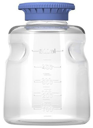 Foxx Life Sciences 500ml PC Media Bottle with SECUREgrip cap, Sterile