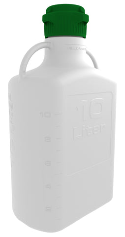 FDA-Grade 10L (2.5 Gal) HDPE Carboy with 83mm Cap
