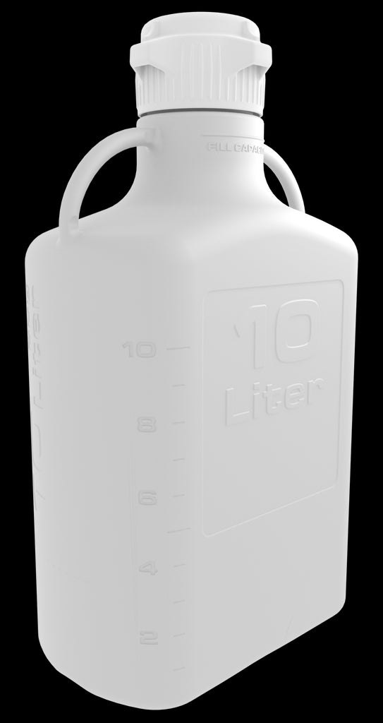 Pharma-Grade 10L (2.5 Gal) HDPE Carboy with 83mm Cap