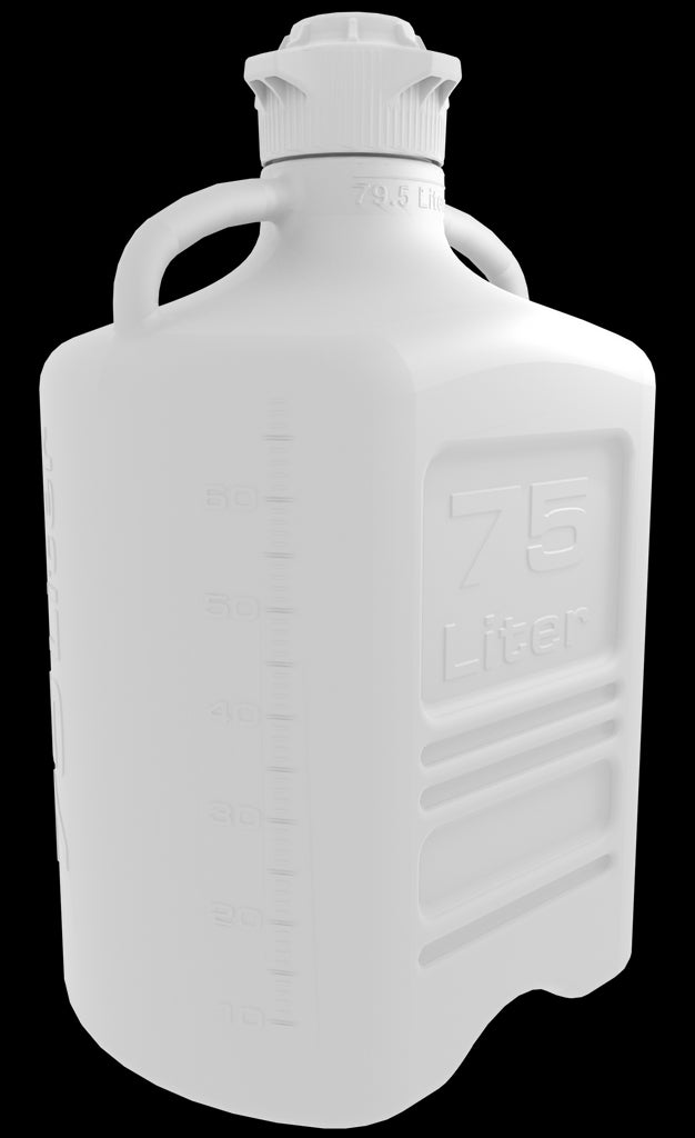 Pharma-Grade 75L (20 Gal) HDPE Carboy with 120mm Cap