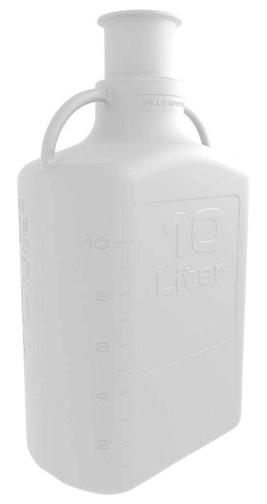 "Pharma Grade 10L (2.5 Gal) PP Carboy with 3"" Sanitary Top"