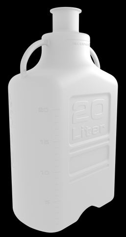 "Pharma-Grade 20L (5 Gal) PP Carboy with 3"" Sanitary Top"