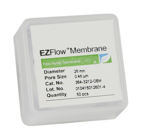 50 pack EZFlow® 25mm 0.45µm Nylon Membrane Disc Filter