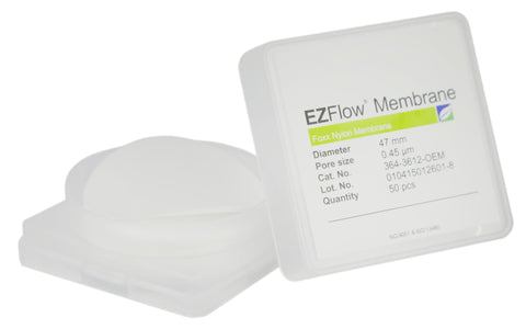 50 pack EZFlow® 47mm 0.45µm Nylon Membrane Disc Filter